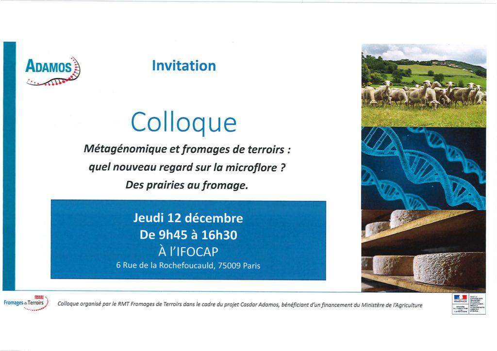 Invitation Colloque Jeudi 12 décembre 2019